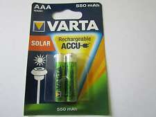 2x AAA Solar 550mAh Akku Nickel-Hydrid HR03 Varta AR1336