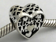 Authentic Pandora Love for Mother, Silver Enamel Silver Charm, 792067EN23 New