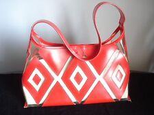 Red....Retro....Red & Clear Vinyl.....Triangle Design......Purse