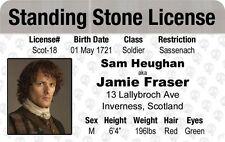 new Highland warrior Jamie Fraser on OUTLANDER - Sam Heughan Drivers License