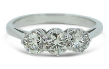 Three Stone Brilliant Cut Diamond Ring 1.68ct 18ct White Gold
