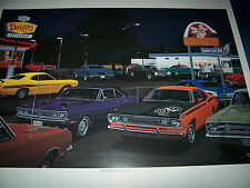 All A's and 3 D's Dave Snyder Car Art Duster Dart GTS 340 Wedge Demon 340