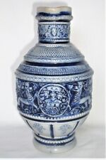 Westerwald Stoneware blue/white Jug with  Koln  (Cologne) Medallion  inscription