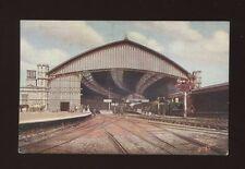 Glos Gloucestershire BRISTOL GWR Railway Station interior from tracks pre1919PPC