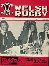 WELSH RUGBY MAGAZINE AUGUST 1975, LAMPETER TOWN RFC, MORGANSTOWN