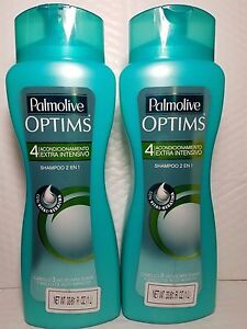 2 PACK PALMOLIVE OPTIMS SHAMPOO EXTRA INTENSIVE CONDITIONING 2 IN 1 33.81 FL OZ