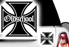 1x Aufkleber Iron Cross Oldschool Auto Motorrad Eiserner Kreuz Rat Tuning Bike x