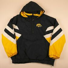 Vintage Iowa Hawkeyes American Football 1/2 Zip Padded Jacket Men's XL R15005