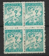 ALGERIE TAXE N°30 BLOCx4 FRENCH PERIOD 1945 MNH/**