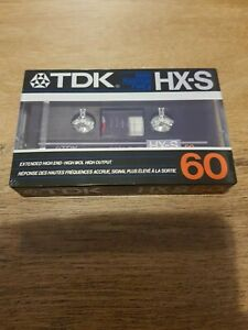 TDK HX-S 60 Cassette Tape (Sealed)