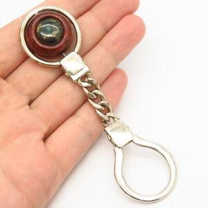 925 Sterling Silver Italy Hazel Wood Car Logo Key Chain