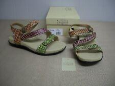 L'Artiste Spring Step NOVATO Brown Tan Green Strap Sandals Size 41 9.5 - 10 NIB
