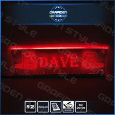 LED SIGN NEW MODEL ! SCANIA V8 LKW SPIEGEL Rückwand LED SCHILD L 100cm