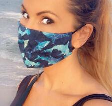 Shark Face mask! Lightweight Cotton FaceMask For Summer! Sharks Sea Ocean Fish