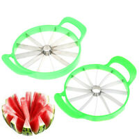 Useful Watermelon Cutter Cantaloupe Melon Slicer Stainless Steel Fruit DividerRF