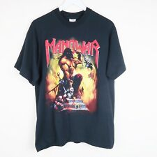 Vintage Screen Stars Manowar Hell on Wheels Metal Rock Tour T Shirt 1997 Large