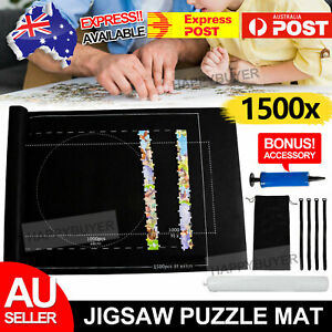 1500 PCS Jigsaw Puzzle Roll Up Mat Felt Large Storage Pad Kit Toys with Inflator