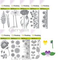 Craft Stencil Cutting Die - Flower, Poppy, Tulips, Rose, Violets, Hogweed & More