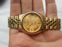 RARE VINTAGE USED GOLD PLATED CITIZEN GENTS AUTOMATIC WRISTWATCH