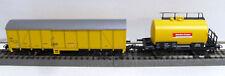 """PIKO 59359 2er-Set Güterwagen """"Bahnbau"""" in Epoche VI Exklusivmodell NEU mit OVP"""