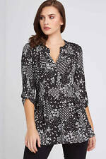 Roman Originals Black Ditsy Floral Print Shirt