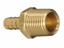 """Dixon BN34 Brass Hose Fitting, Adapter, 1/2"""" NPTF Male x 3/8"""" Hose ID Barbed"""