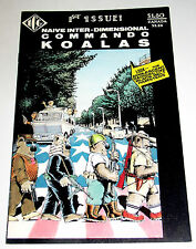 COMMANDO KOALAS #1 WITH  PAPER DOLL CUT-OUTS 1986