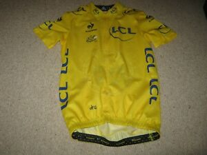 TOUR DE FRANCE 2014 LCS YELLOW LEADERS CYCLING JERSEY [S]
