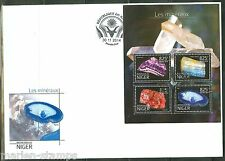NIGER  2014  MINERALS  SHEET  PERFORATED FIRST DAY COVER