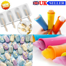 Frozen Ice Cream Pop Mold 4Cell Kitchen Popsicle Maker Lolly Cake Mould Tray New