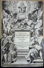 LYON CLAUDE LANDRY 1625 Titre Frontispice Claude AUDRAN COMMENTARIA IN DUODECIM