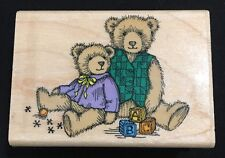 HERO ARTS RUBBER STAMPS Antique Bears Playing Blocks Jacks E902 Wood Mounted
