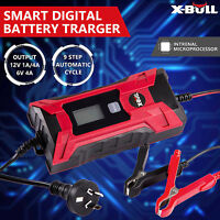 X-BULL Smart Battery Charger 12V/6V 4A Digital Automatic Maintainer Deep Cycle