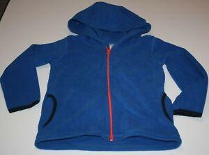 New Carter's Boys Fleece Full Zip Up Jacket Sweatshirt Hoodie Blue 7 8 12 year