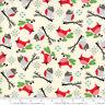 MODA Fabric ~ JINGLE BIRDS ~ by Keiki (33251 11) Cream - by the 1/2 yard