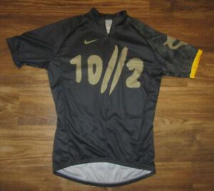 Nike 10/2 Livestrong Mens Short-Sleeve 3/4-Zip Cycling Jersey, Black Size M, EUC