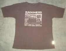 VTG 2000 RADIOHEAD EVERYTHING IN ITS RIGHT PLACE T SHIRT XL BLACK AUTHENTIC TEE