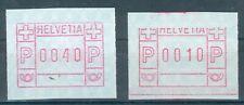 Schweiz,Lot 6 Automatenmarken mit Abarten, postfrisch,mit Vorläufer pracht