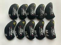 10PCS Club Headcovers for Cobra King Speedzone Iron Covers 4-LW Black Red R/H