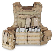 Bulldog Assault MK1 Military Police Tactical MOLLE Plate Carrier Vest Coyote Tan