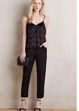 4891162195f5 NEW  278 Ella Moss Love To Love You Black Chevron Fringe Jumpsuit Size Large