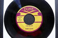 """7"""" Bobby Bland -Lead Me On/ Hold Me Tenderly - US DUKE"""