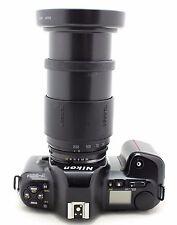 Nikon F-601M black, vintage 35mm SLR camera, lens Tamron AF 28-200mm 1:3,8-5,6