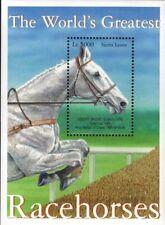 MODERN GEMS - Sierra Leone - World's Greatest Racehorses - Souvenir Sheet - MNH