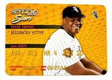 New listing Frank Thomas, 2002 Donruss Studio Stars Gold rare insert, #d /250, White Sox