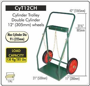 "CYLINDER Cart 12"" WHEELS, Welding Oxygen Acetylene Cylinder Cart, CYT-12CH"