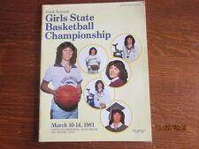 1981 Iowa High School Girls State Basketball Championship Official Program