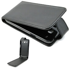 Full Black Leather Pocket Cover Case For Samsung Galaxy Star Advance SM G350E
