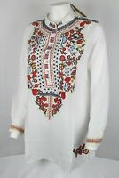 Scully Western Shirt Womens Long Sleeve Embroidered Blouse Large White HC510