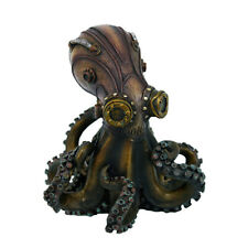 11155: Hand Painted Resin Steampunk Octopus figurine